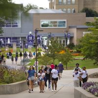 Students return to campus during Move-In Day at UW-Whitewater on Sunday, September 1, 2019. (UW-Whitewater photo/Craig Schreiner)