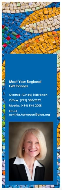Contact information for Regional Gift Planner